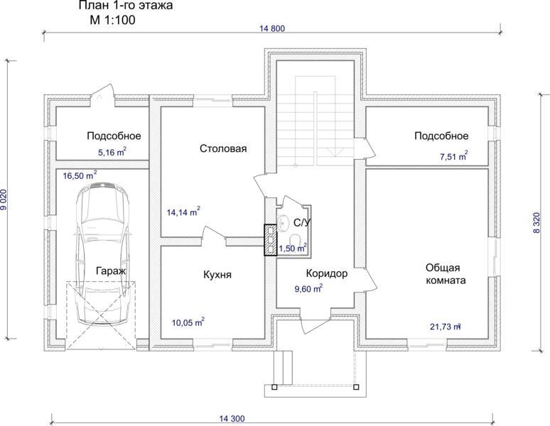 План дом рисунок